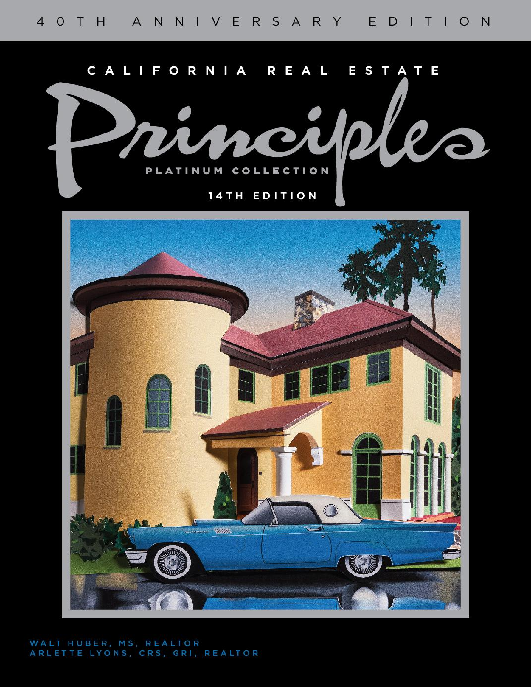 California Real Estate Principles - 14th Ed.